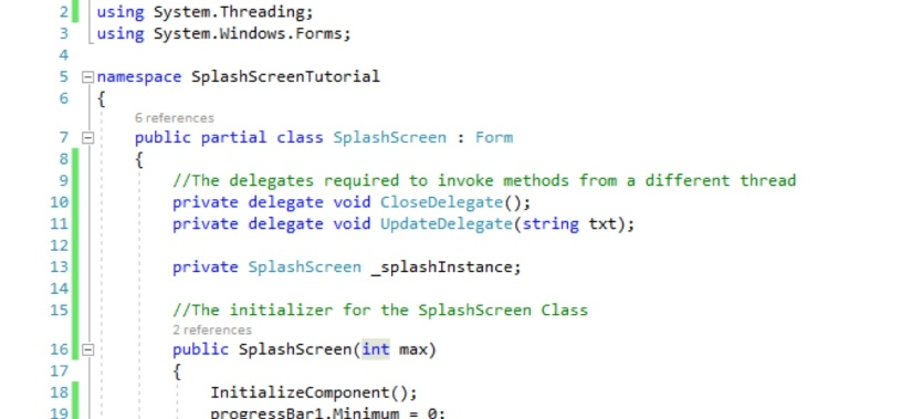C# WinFroms SplashScreen